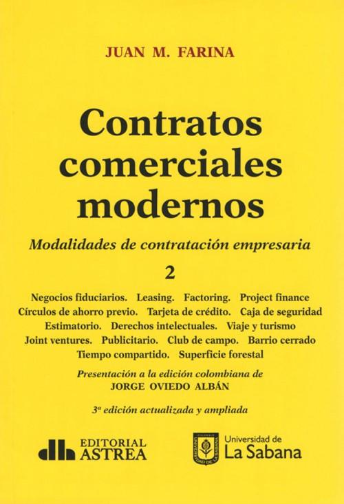 CONTRATOS COMERCIALES MODERNOS. TOMO II