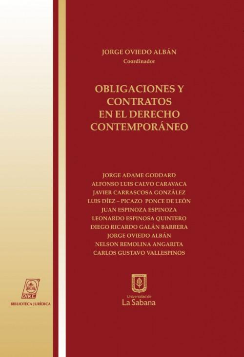 OBLIGACIONES Y CONTRATOS EN EL DERECHO CONTEMPORÁNEO